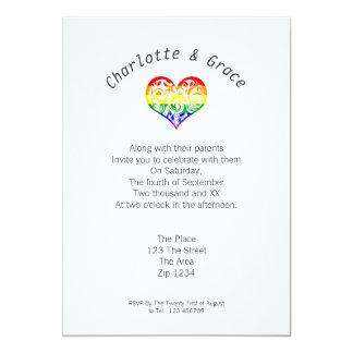 Gay Pride Heart Simple Elegance Card
