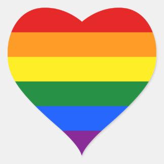 Gay Pride Heart Sticker