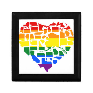 Gay Pride In All 50 States Small Square Gift Box