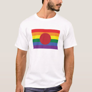 Gay Pride Japanese Flag T-Shirt