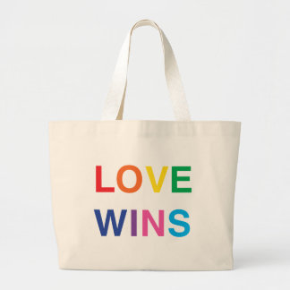 Gay Pride Jumbo Size Tote Bag, Love Wins