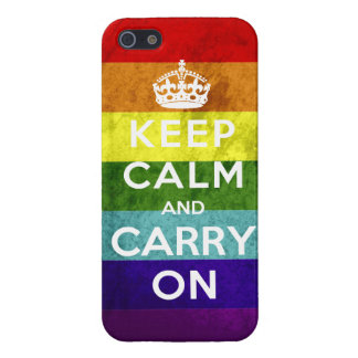 Gay Pride Keep Calm and Carry On iPhone 5 Cases