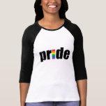 Gay Pride Ladies 3/4 Sleeve Raglan (Fitted) Shirts