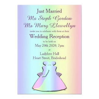 Gay Pride Lesbian Wedding Reception Invitation