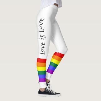Gay Pride LGBT Colourful Rainbow Love is Love Leggings
