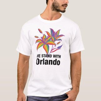 Gay Pride LGBT flag stargazer flower T-Shirt