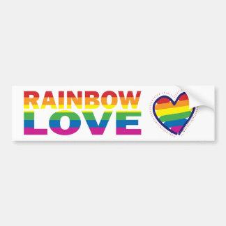 Gay Pride Love Heart Bumper Sticker