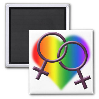 Gay Pride Magnets Lesbian Love Gay Women's Gifts Magnet