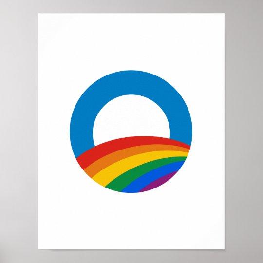 Gay Pride Obama T-shirt Poster