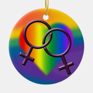 Gay Pride Ornament Gay Women's Love Decoration