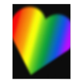 Gay Pride Party Invitations Rainbow Love Cards