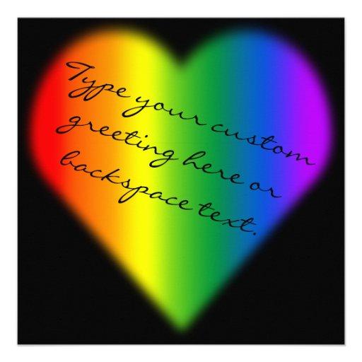 Gay Pride Party Invitations Same-Sex Love Cards