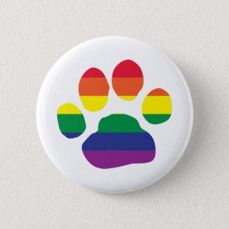 Gay-Pride-Paw-Print 6 Cm Round Badge