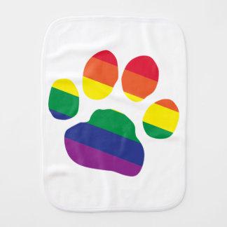 Gay-Pride-Paw-Print Burp Cloth
