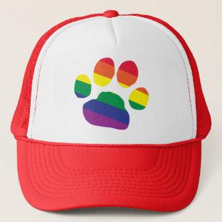 Gay-Pride-Paw-Print Trucker Hat