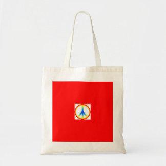 Gay Pride Peace Tote Tote Bag