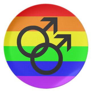 Gay Pride Plate