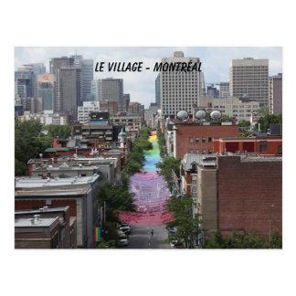 gay, pride, pride, gay village, Montreal Postcard