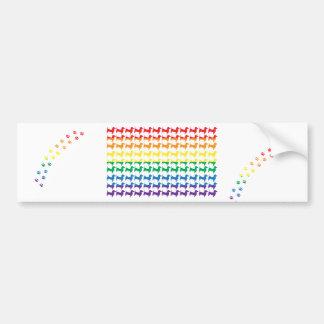 Gay Pride Rainbow Dachshunds Bumper Sticker