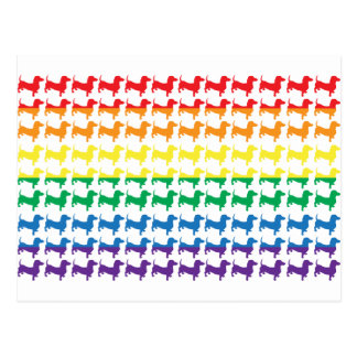 Gay Pride Rainbow Dachshunds Postcard