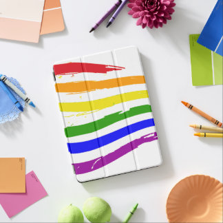 Gay Pride Rainbow Flag Brush Strokes