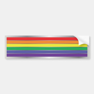 Gay Pride Rainbow Flag Colors Bumper Sticker