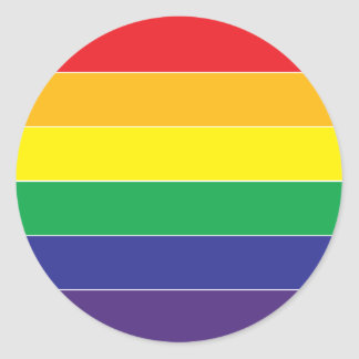Gay Pride Rainbow Flag Colors Classic Round Sticker