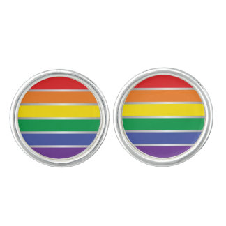 Gay Pride Rainbow Flag Colors Cufflinks
