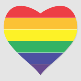 Gay Pride Rainbow Flag Colors Heart Sticker