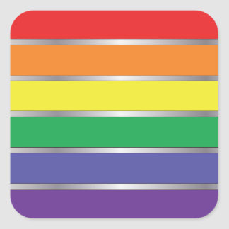 Gay Pride Rainbow Flag Colors Square Sticker