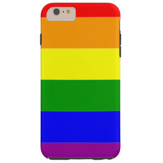 Gay Pride Rainbow Flag Tough iPhone 6 Plus Case