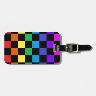 Gay Pride Rainbow Gifts - Rainbow Chessboard Luggage Tag