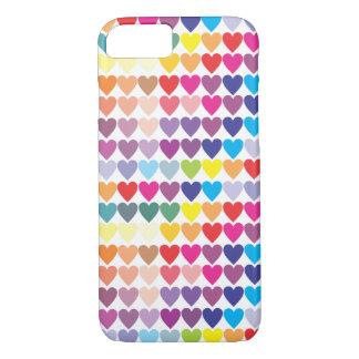 Gay Pride Rainbow Hearts iPhone 8/7 Case