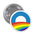 Gay Pride Rainbow Obama 2012 3 Cm Round Badge