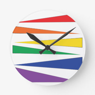 Gay Pride Rainbow Round Clock