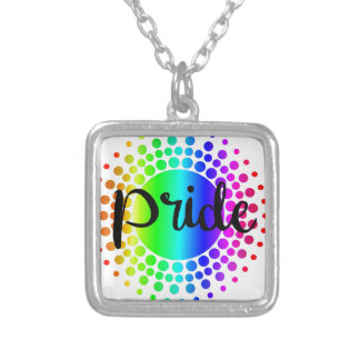 Gay Pride Rainbow Silver Plated Necklace