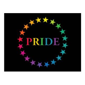 Gay Pride Rainbow Stars Postcard