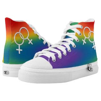 Gay Pride Sneakers Women's Rainbow Love Shoes