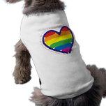 Gay Pride Spirit Heart Doggie Shirt