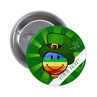 Gay Pride St. Patrick's Day Custom Text Button