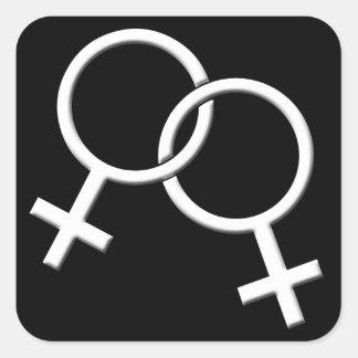 Gay Pride Stickers Same-Sex Lesbian Love Sticker