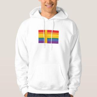 Gay Pride Swedish Flag Hoodie