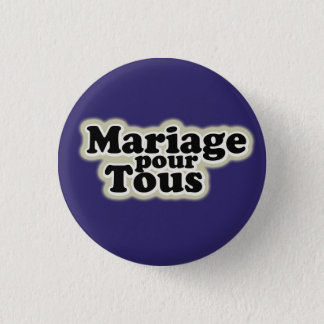 gay pride swipes in: marriage for all 3 cm round badge