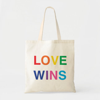 Gay Pride Tote Bag, Love Wins