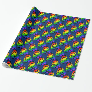 Gay Pride Wrapping Paper Rainbow Love Gift Paper