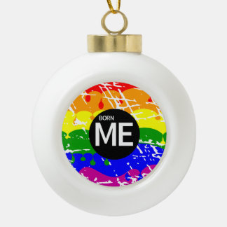 Gay Rainbow Flag Born This Way Ornaments