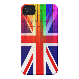 Gay Rainbow Wall Union Jack iPhone 4 Cover