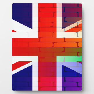 Gay Rainbow Wall Union Jack Plaque