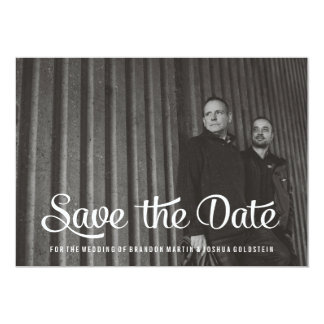Gay Retro Save the Date Photo Card 13 Cm X 18 Cm Invitation Card