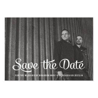 Gay Retro Save the Date Photo Card 13 Cm X 18 Cm Invitation Card